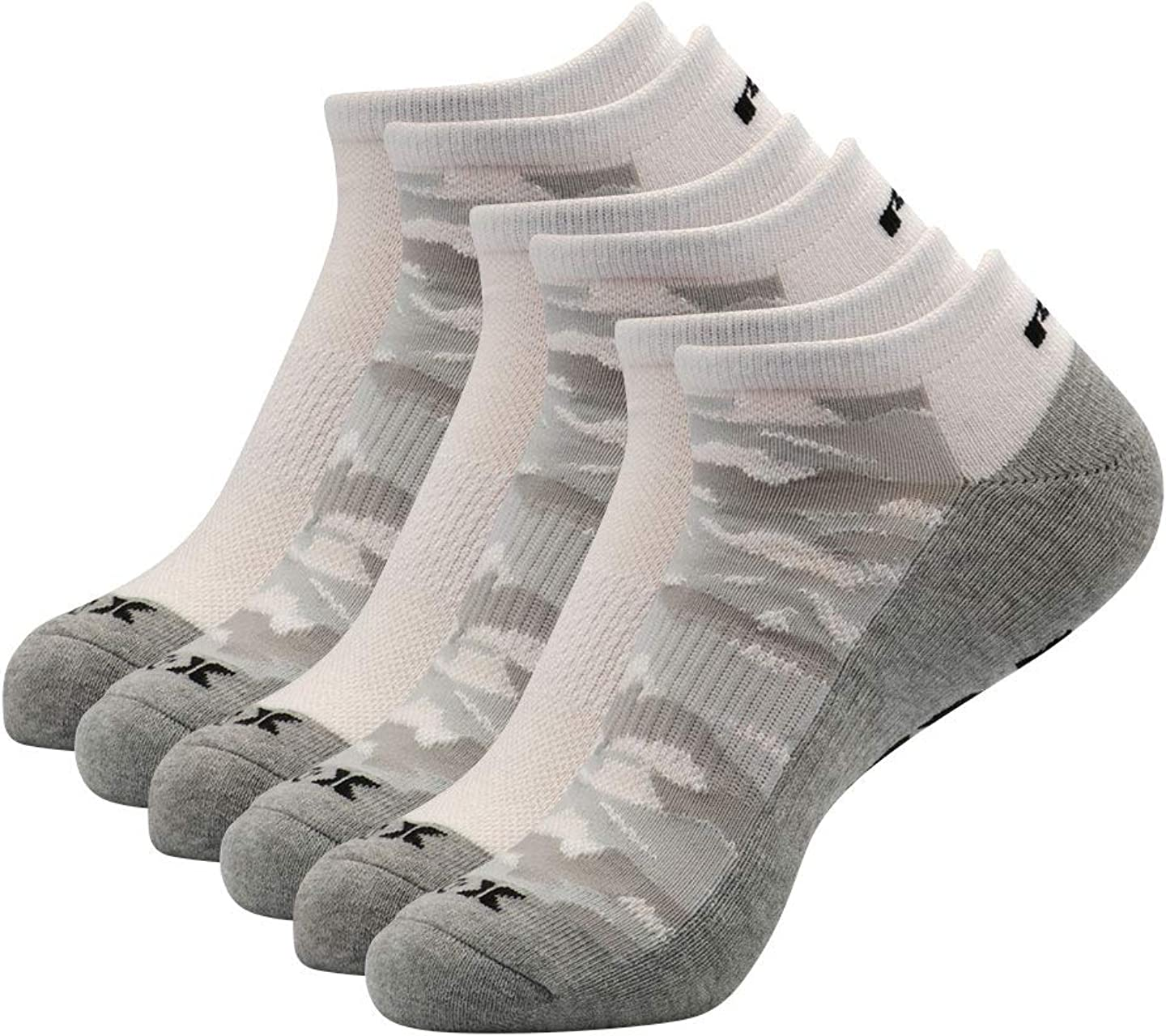 RBX Active Men's Basics Athletic Performance Cushioned X-Dri Quick Dry Ankle No Show Low Cut Socks 6-Pack