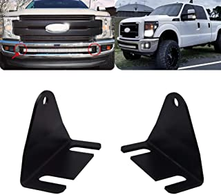 Hidden Bumper Grille 42'' Curved LED Light Bar Mounting Brackets Fit 2011-2016 Ford F250 F350 F450 Super Duty