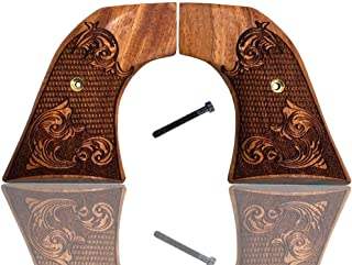 Ruger Grips Old Vaquero, New Model Blackhawk, Single Six, Single Nine, Single Ten, Old Army Grips Solid Rosewood Engraved