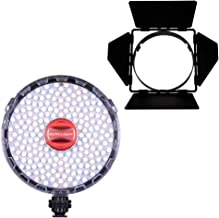 Rotolight NEO 2 LED Camera Light and Barn Doors Bundle, Continuous Adjustable Color with Built in High-Speed Sync Flash