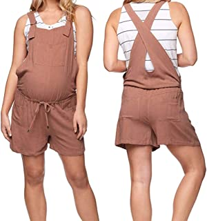 b3c167d0d29f8 Iusun Women's Maternity Jumpsuit Cotton Pockets Sleeveless Loose Short  Rompers Breastfeeding Pregnants for Party Daily Beach