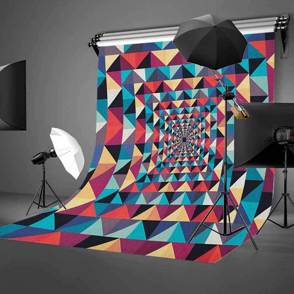 8x12 FT Retro Vinyl Photography Background Backdrops,Funky Nostalgic Polka Dots Circle Rounds in Contrast Image Background for Child Baby Shower Photo Studio Prop Photobooth Photoshoot