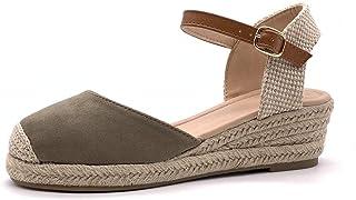 ebcbabca2b475 Angkorly - Chaussure Mode Espadrille Sandale Confortable Pratique Chic  Femme Simple Basique Classique avec de la