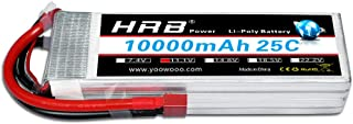 HRB 3S 10000mah 11.1V 25C RC lipo Battery with T Plug for Helicopter Car DJI Drone FPV
