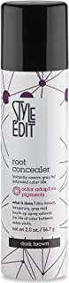 Style Edit Root Concealer Touch Up Spray | Instantly Covers Grey Roots | Professional Salon Quality Cover Up Hair Products for Women |Dark Brown 2 Ounce (Pack of 1)