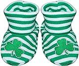 Irish Shamrock Striped Newborn Baby Booties