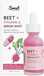 Sweet Chef Beet + Vitamin A Serum Shot - Refining + Smoothing Retinol Serum with Omega-Rich Seaberry Fruit Extract (30ml /...