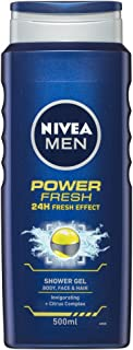 NIVEA MEN Power Fresh Shower Gel, 500ml