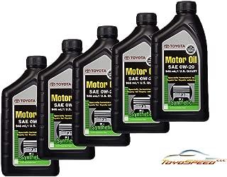 TOYOSPEED LLC Genuine Toyota Synthetic Motor Oil SAE 0W-20 Set 5 quarts