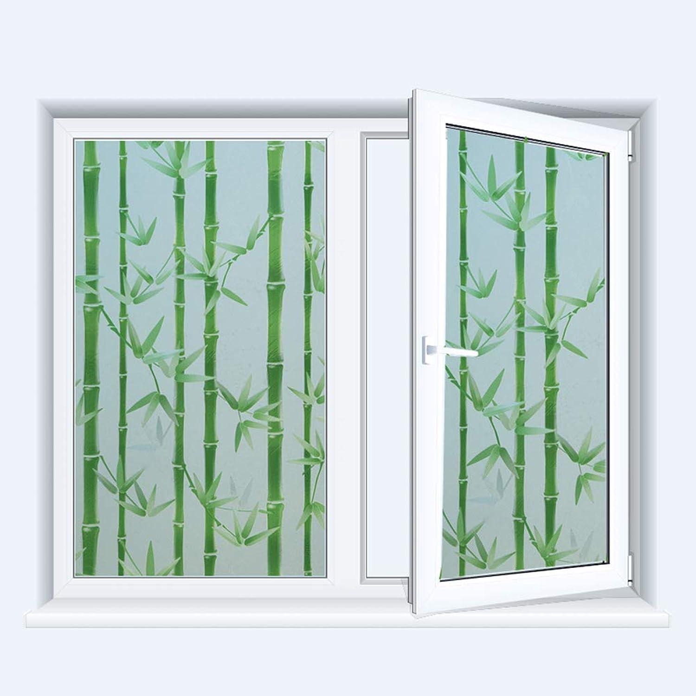 Privacy Window Film, Window Stickers Super Anti-UV Films Non-Adhesive Static Glass Window Cling, Bamboo Pattern,50x200cm(19x78in)