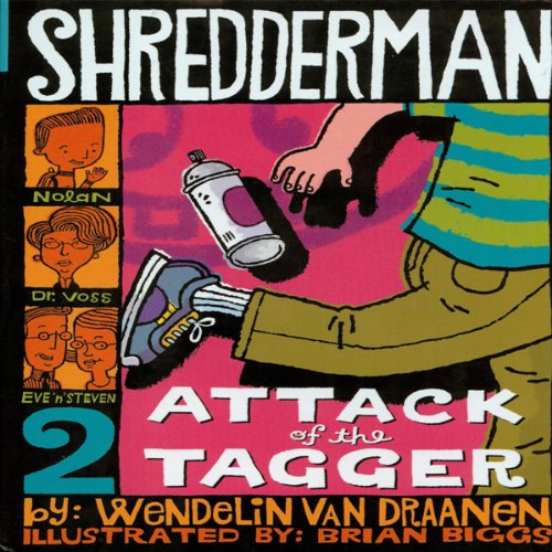 Shredderman audiobook cover art