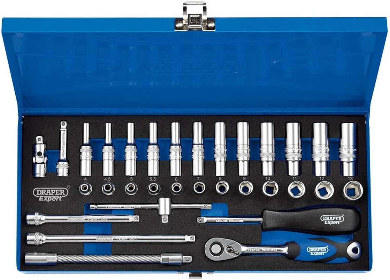 DRAPER b32 m MC SG 1 10,2 cm cm cm SQ. DR. metrische Sockel Set in Metall Fall (32 Stück), blau B074MHZZ43 | Schönes Design  b1e99a