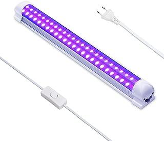 Luz Negra UV,Eleganted 10W Luz Ultravioleta 220V UV Led Tubo con EU Enchufe para Halloween Fiestas Boda Iluminación