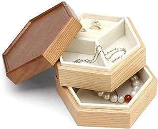 WYKDL صندوق مجوهرات جلدي كبير / جراب/تخزين مبتكر بسيط مقاوم للغبار سعة كبيرة تخزين مجوهرات صندوق