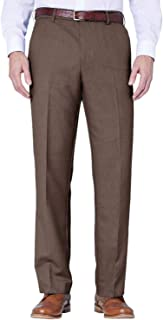FARAH Mens Flex Trouser Pants with Self-Adjusting Waistband