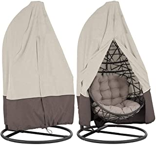 Patio Hanging Chair Cover Waterproof Outdoor Furniture Swinging Egg Chair Covers Garden Rattan Wicker Swing Chair Shelter ...