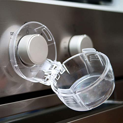 Stove Knob Covers for Child Safety, Large, 5 Pack, Kitchen Safety Guards for Kids, Baby, Toddler, Clear Oven and Gas ...