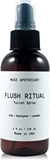 Muse Bath Apothecary Flush Ritual - Aromatic & Refreshing Before You Go Toilet Spray, 4 oz, Infused with Natural Essential...