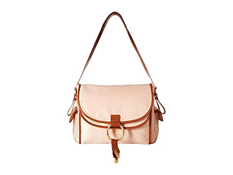 Chloe Kids Diaper Bag in Satin Fabric and Cow Leather