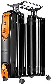 Zzq- Radiador De Aceite,12 Módulos, Bajo Consumo, Termostato Regulable, 3 Niveles De Potencia, Sistema Antivuelco, Fácil Transporte, 2200 W
