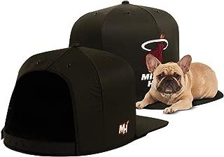 NAP CAP NBA Miami Heat Team Indoor Pet Bed, Black (Available in 3 Sizes)