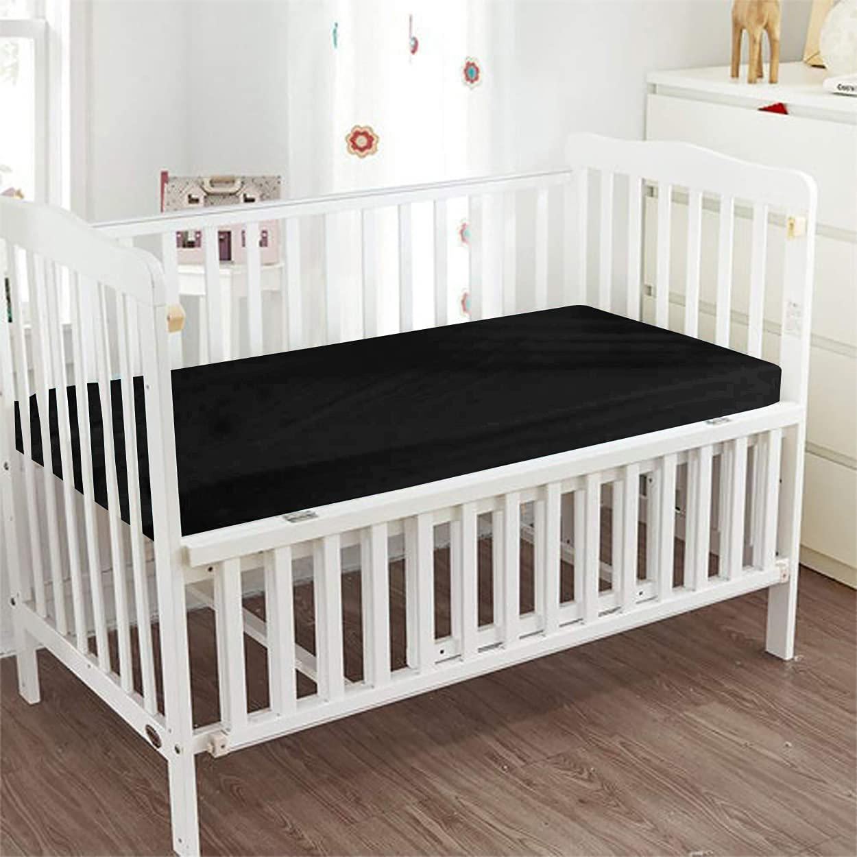 PG Beddings - quality assurance Fitted Crib Sheet Egyptian 100% Cott Color 2021 autumn and winter new Solid