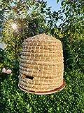 Unbekannt Elmato 10239 Bienenkorb Bienenstock Bienenhaus Hummelhaus aus Stroh und Holzrinde, 34x35cm