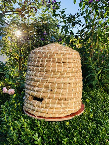 Preisvergleich Produktbild Unbekannt 10239 Bienenkorb Bienenhaus Bienenstock Hummelhaus 34x35cm