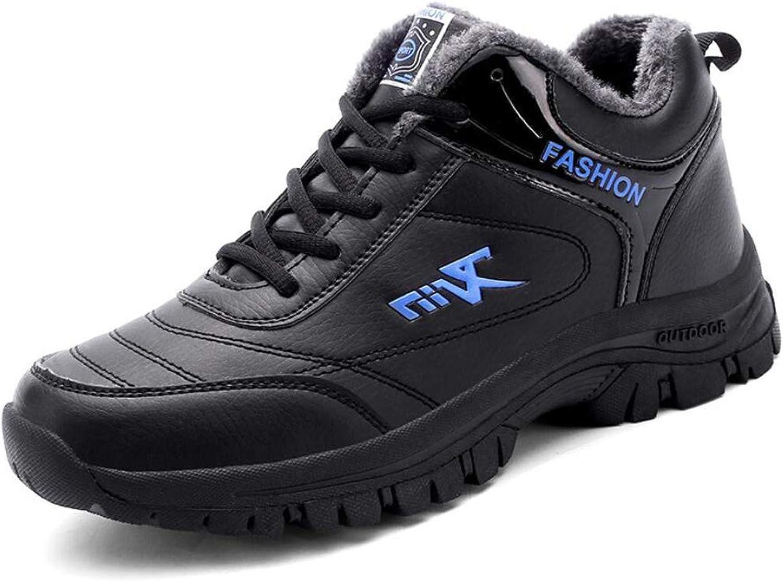 Zxcer Winter Sports shoes Men's Plus Velvet Warm Cotton shoes Casual Running shoes Wear-resistant Shock Men's Running shoes Elderly shoes