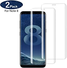 Note 8 Screen Protector for Samsung Galaxy, Cell Phone Tempered Glass, Anti-Scratch, Bubble-Free, Edge Clear Full Coverage Invisible Screen Film, with Fingerprint Unlock, Lifetime Replacement(2-Packs)