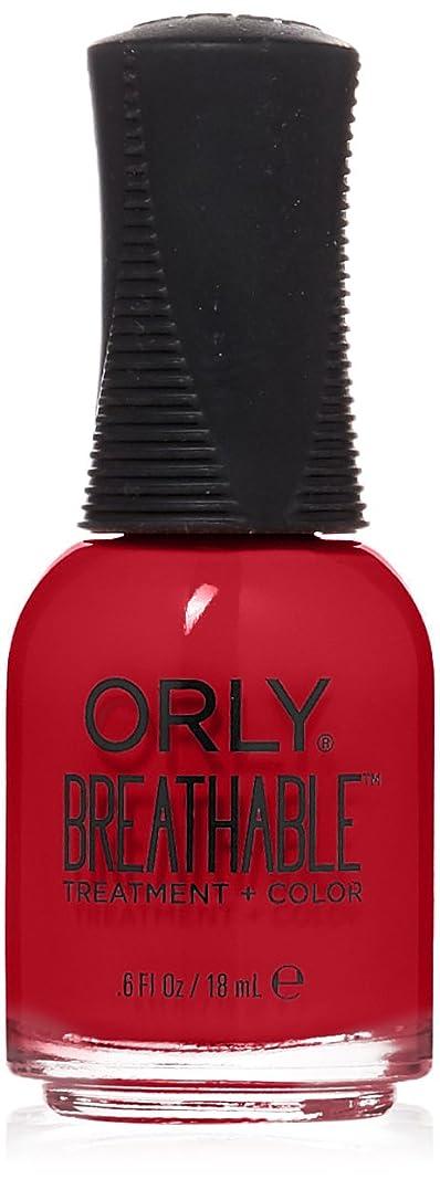 郵便局歌手弾性Orly Breathable Treatment + Color Nail Lacquer - Love My Nails - 0.6oz/18ml