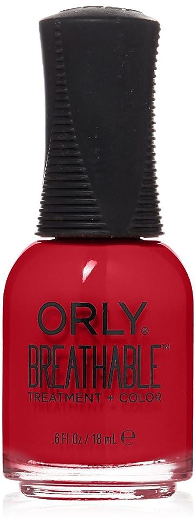 パイル兵士寛容Orly Breathable Treatment + Color Nail Lacquer - Love My Nails - 0.6oz/18ml
