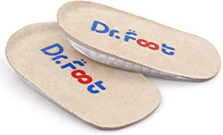 """Dr. Foot's Height Increase Insoles, Heel Cushion Inserts, Heel Lift Inserts for Leg Length Discrepancies (Large (0.5"""" Height))"""