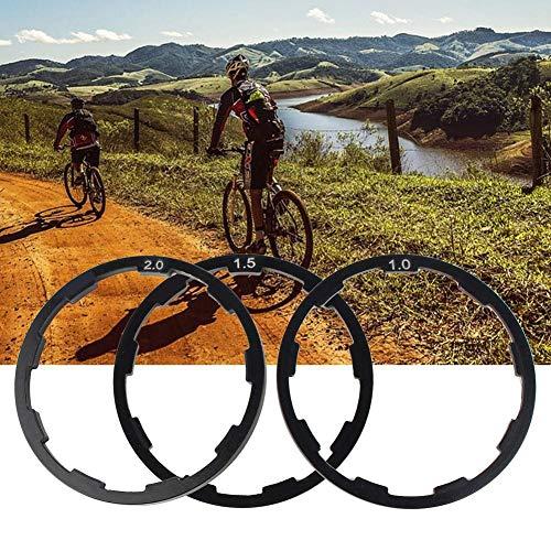 Elprico Hub Spacer Durable 1mm+1.5mm+2mm Washer Spacer, Strong Bike Washer, for Adjusting Bike Bottom Bracket Flywheel Road Bike Mountain Bike