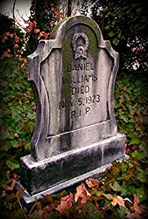 BACK FROM THE GRAVE Halloween Prop Damon REDBLOOD Tombstone Haunted House Cemetery Gravestone
