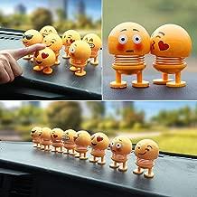 SHOPPERWORLD Pack of 6 Emoji/Smiley Spring Doll,Cute Emoji for Car Dashboard Bounce Toys,Emoticon Figure Funny Smiley Face Springs Car Decoration for Car Interior Dashboard Expression BobbleHead