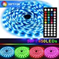 LED Strip Lights Kit?50ft/15M?5050 SMD RGB Led Strip Flexible Lights Kit? Non-Waterproof with DC24V Power Supply 44Key IR Remote Controller for Living Room Under Cabinet Lighting Bedroom