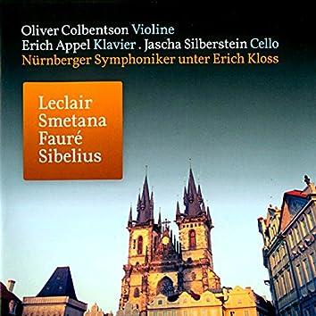 Leclair: Sonate für Violine und Klavier in A Major - Smetana: Klaviertrio in G Minor, Op. 15 - Fauré: Berceuse, Op. 16 in D Major - Sibelius: Serenata für Violine und Orchester in D Major, Op. 69a