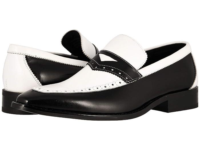 Mens Vintage Style Shoes & Boots| Retro Classic Shoes Stacy Adams Sanhurst BlackWhite Mens Shoes $65.97 AT vintagedancer.com