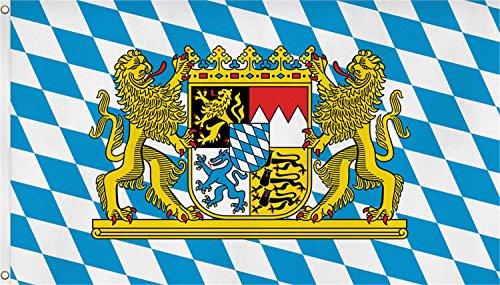 normani Fahne mit Messingösen 90 x 150, 150 x 250 oder 300 x 500 cm wählbar Farbe Bayern Größe 90 x 150