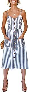 ECHOINE Women's Summer Dresses, Floral Boho Spaghetti...