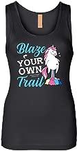 Magical Unicorn Slogan Fun Tank Top Blaze Your Own Trail