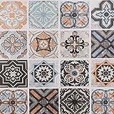 Hode Vinilo adhesivo para azulejos de mosaico, autoadhesivo, para pared, 60 x 300 cm