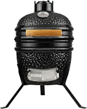 KAMaster Ceramic Kamado Charcoal Grill 10.5 inch Barbecue Cooking Smoker Briquettes Griller with Accessories Stainless Steel Grid,Cast Iron Fire Grate,Grill Nest,Grill Thermometer,Handle