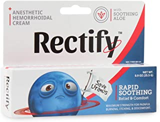Rectify - Anesthetic Hemorrhoidal Cream for Rapid Soothing Relief, Comfort, and Hemorrhoid Treatment - 0.9oz (25.5g) - FDA Approved from Purity Products (2)