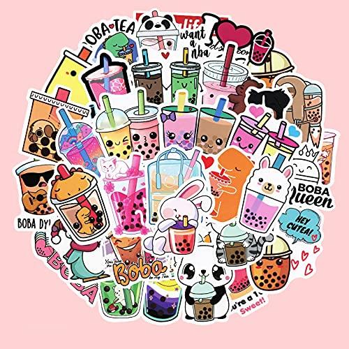 JINER Dibujos Animados Lindo té de Leche portátil Pegatinas de teléfono móvil japonés y Coreano ins Equipaje Maleta Pegatinas Impermeables