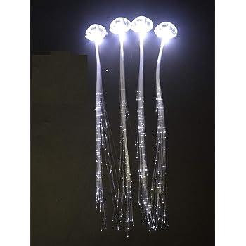 30 Pack LED Lights Hair Light-Up Fiber Optic LED Hair Barrettes Extensions Light Flashing Fiber Optic Hair Braid Barrettes Hair Clips for Party Favors Festival Party Bar Concert ( white light)