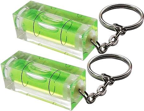 Schlüsselanhänger Mit Mini Wasserwaage Von Rkgifts Werkzeug Heimwerken Originelles Geschenk 2 Achsen Mini Spirit Level 2 Pack Küche Haushalt