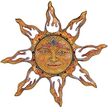 Woerte Home 15 7 Sun Face Wall Decor For Indoor And Outdoor Use Home Kitchen