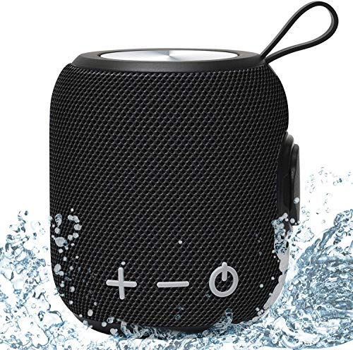 Altoparlante Bluetooth Portatili Doccia, Stereo Cassa con Bassi Potenti Bluetooth 5.0, IPX7 Impermeabile Per Viaggi, Bagno, Piscina e Doccia Esterna